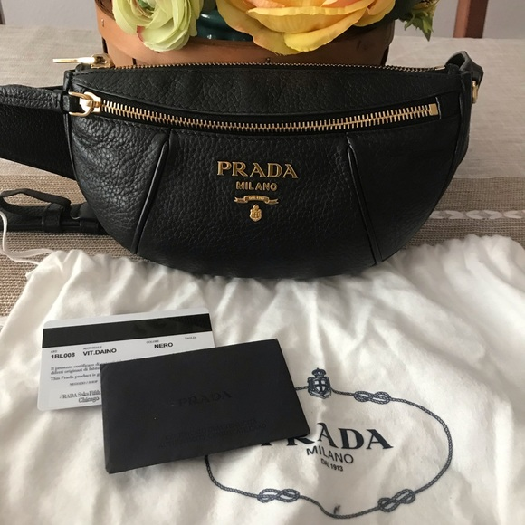3ff07c5e3f61cd Prada Daino Fanny Bum Belt Bag Retail 1,290$. M_5c538788df03077e13c373f4
